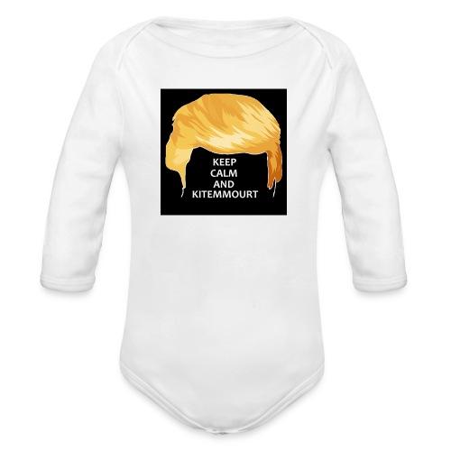 Keep Calm And Kitemmuort Capelli Trump - Body ecologico per neonato a manica lunga
