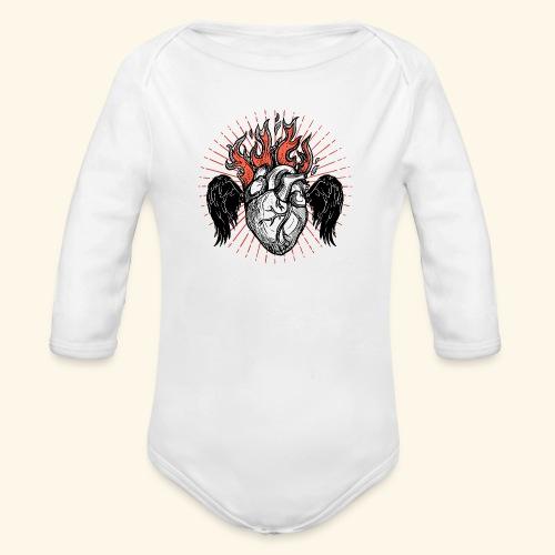 Corazón Sagrado. - Body orgánico de manga larga para bebé