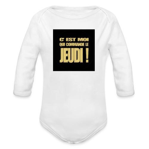 badgejeudi - Body Bébé bio manches longues