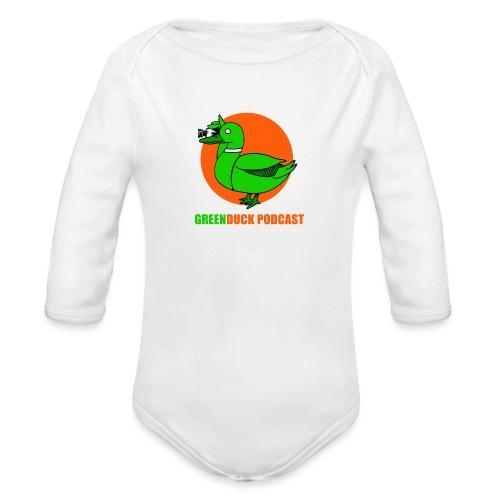 Greenduck Podcast Logo - Langærmet babybody, økologisk bomuld