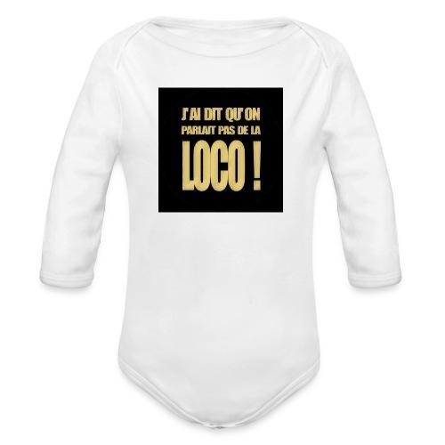 badgeloco - Body Bébé bio manches longues