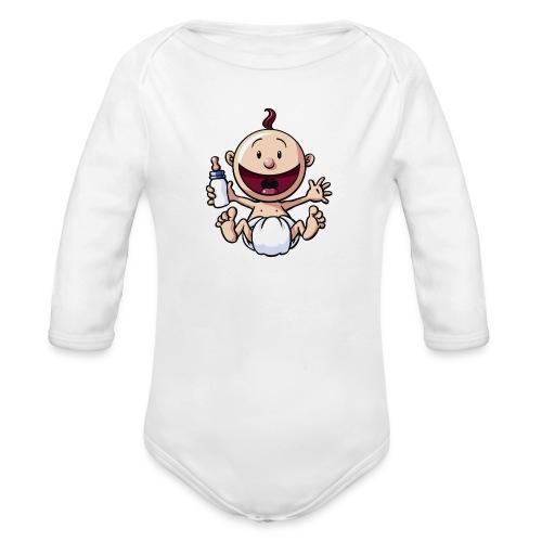 Das Baby lacht. - Baby Bio-Langarm-Body