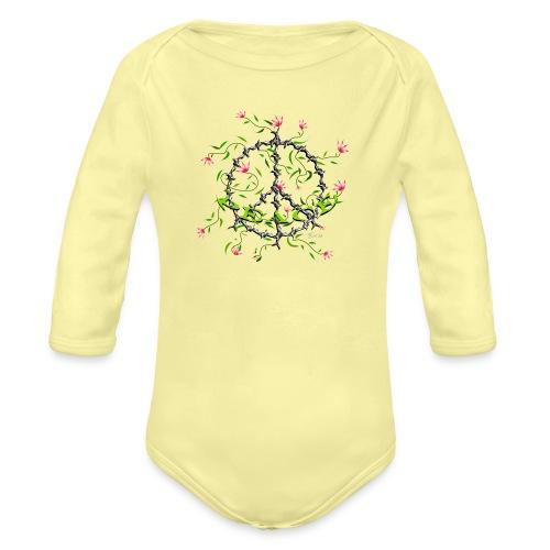 Peace - Baby Bio-Langarm-Body