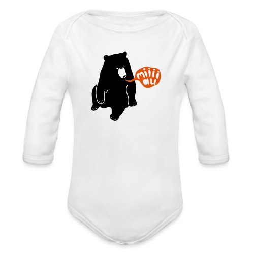 Bär sagt Miau - Baby Bio-Langarm-Body