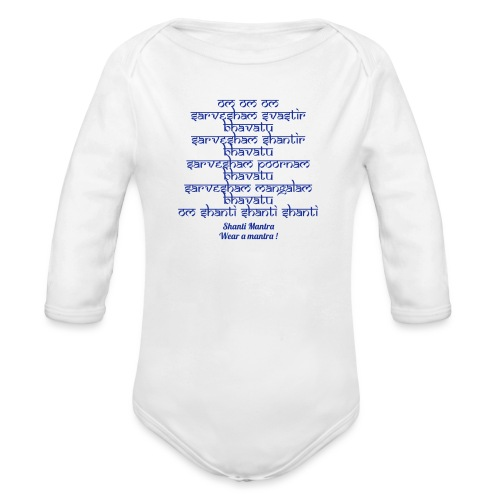 Om Sarvesham - Body ecologico per neonato a manica lunga