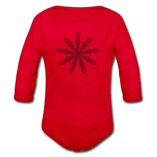 Magic Star Tribal #4 - Organic Longsleeve Baby Bodysuit