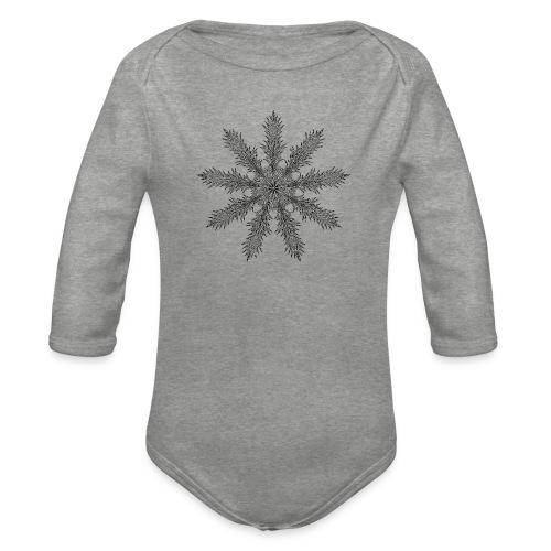 Magic Star Tribal #4 - Organic Longsleeve Baby Bodysuit