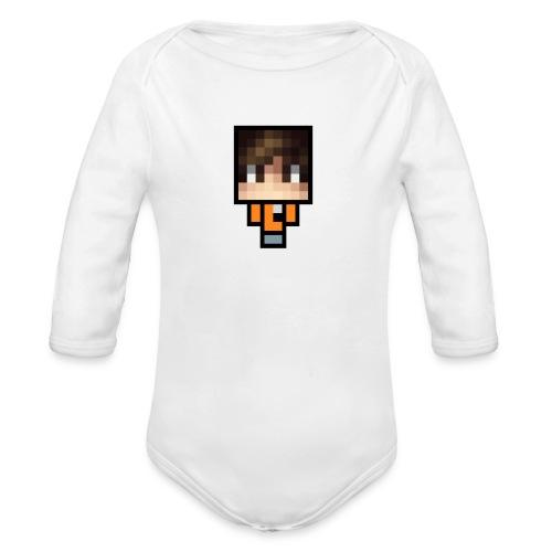 Azhbark Minecraft Fig - Langærmet babybody, økologisk bomuld