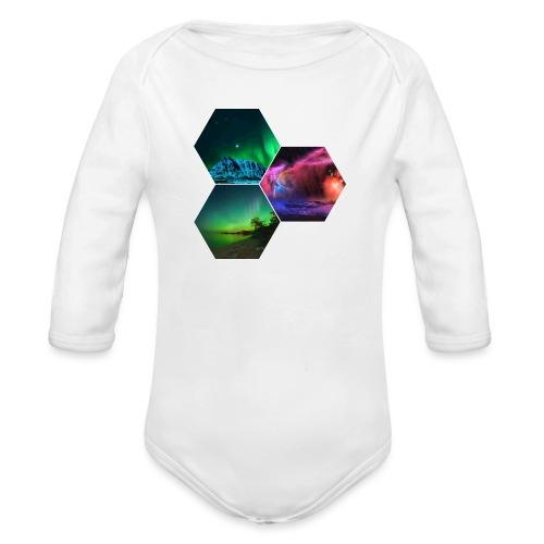Aurora - Body ecologico per neonato a manica lunga