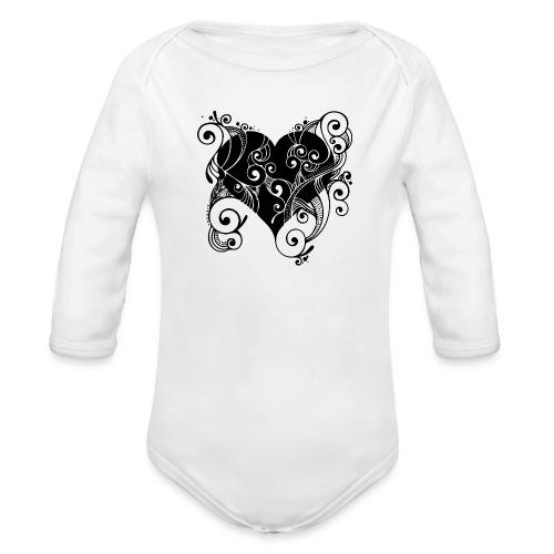 Isle of Heart Petal - Organic Longsleeve Baby Bodysuit