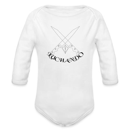 design 1 - Langærmet babybody, økologisk bomuld