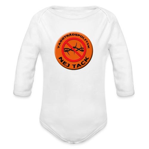 Taggtrådspolitik Ny - Ekologisk långärmad babybody