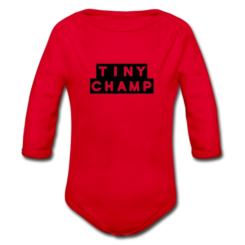 tiny champ blocks - Organic Longsleeve Baby Bodysuit