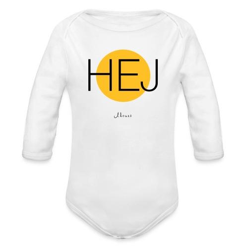 HELLO circle - Organic Longsleeve Baby Bodysuit