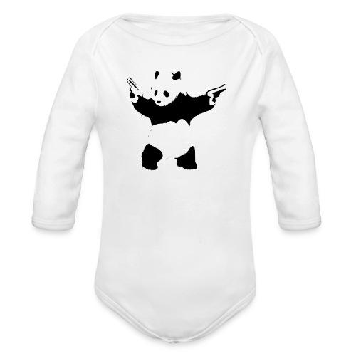 oso panda pistolas - Body orgánico de manga larga para bebé