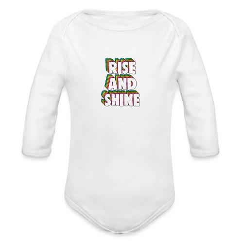 Rise and Shine Meme - Organic Longsleeve Baby Bodysuit