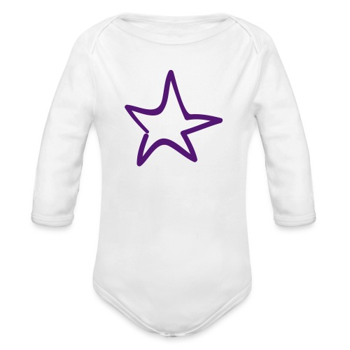 Star Outline Pixellamb - Baby Bio-Langarm-Body