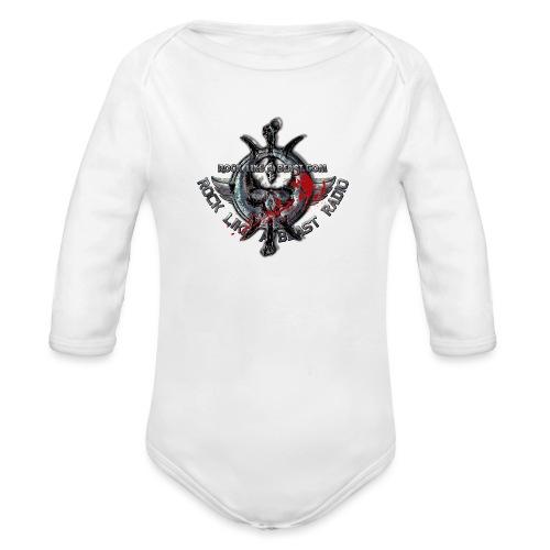 Blood Skull Logo - Ekologisk långärmad babybody