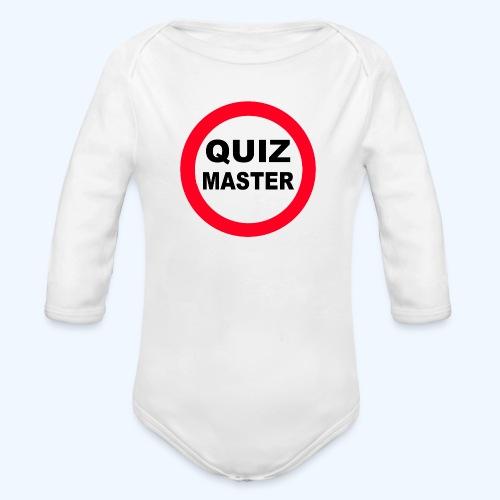 Quiz Master Stop Sign - Organic Longsleeve Baby Bodysuit