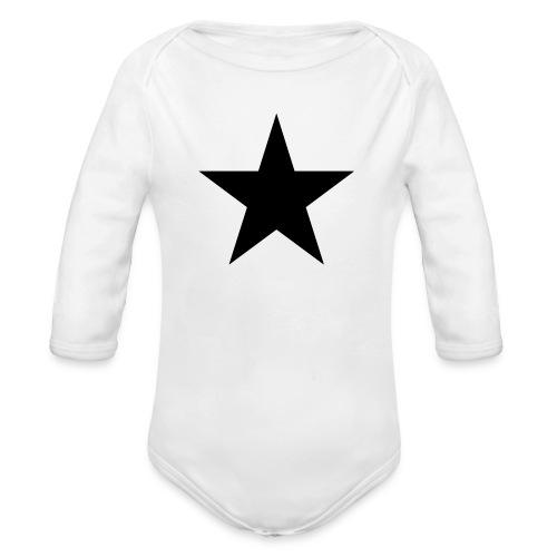 Ardrossan St.Pauli Black Star - Organic Longsleeve Baby Bodysuit