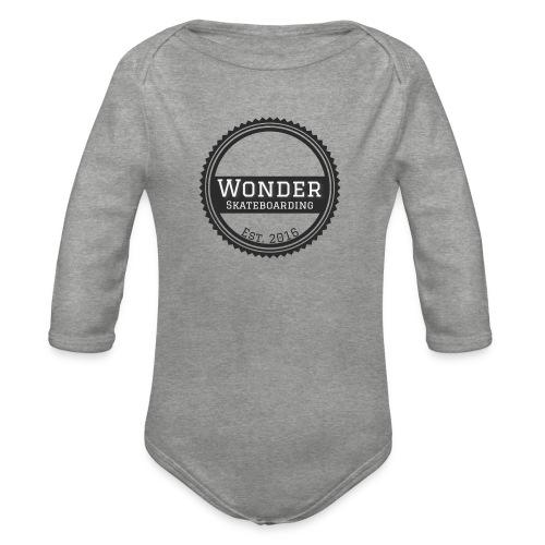 Wonder unisex-shirt round logo - Langærmet babybody, økologisk bomuld
