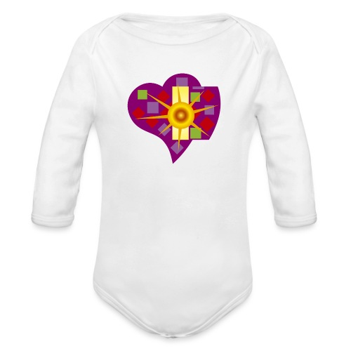 IN_LOVE_CUORE - Body orgánico de manga larga para bebé