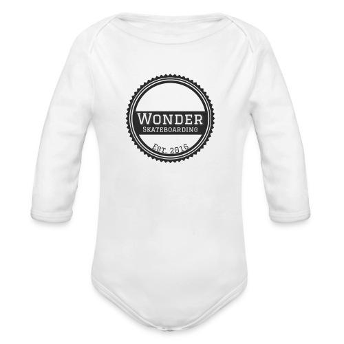 Wonder Longsleeve - round logo - Langærmet babybody, økologisk bomuld