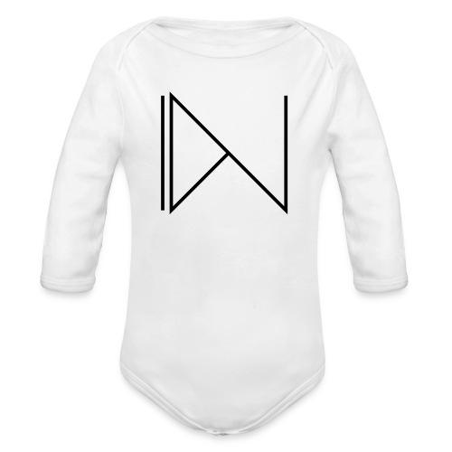 Icon on sleeve - Baby bio-rompertje met lange mouwen