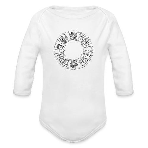calligrafia-nera - Body ecologico per neonato a manica lunga