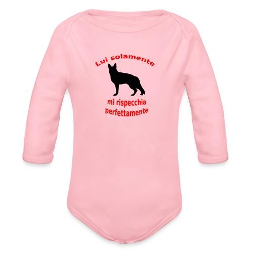 Pastore Tedesco - Body ecologico per neonato a manica lunga