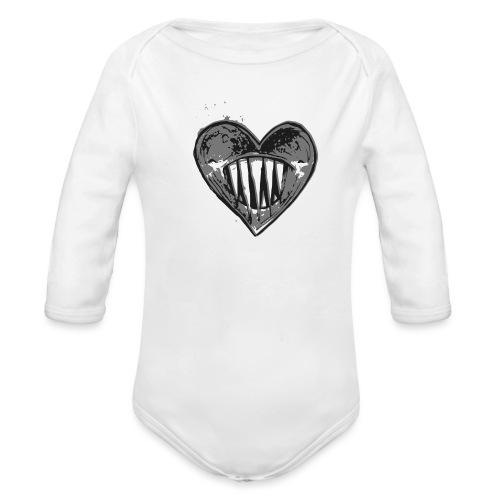 Corazón Negro - Body orgánico de manga larga para bebé