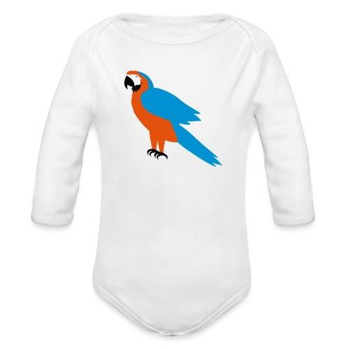 Parrot - Body ecologico per neonato a manica lunga