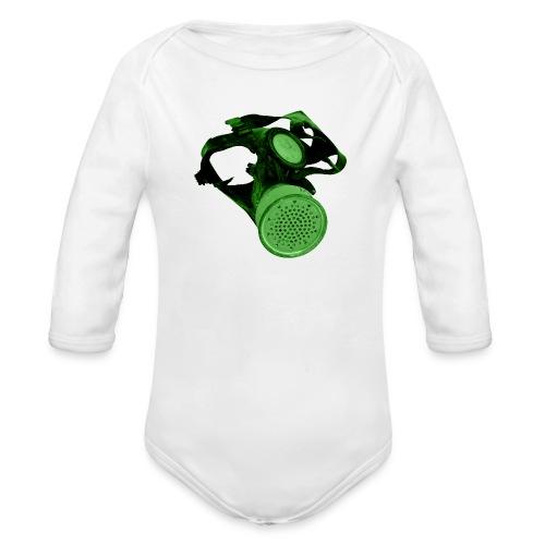 gas shield - Organic Longsleeve Baby Bodysuit