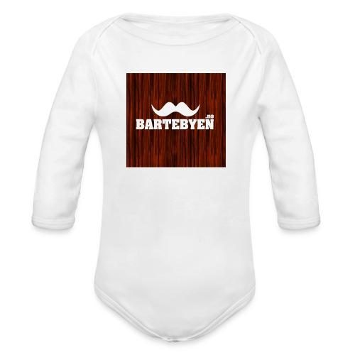 logo bartebyen buttons - Økologisk langermet baby-body
