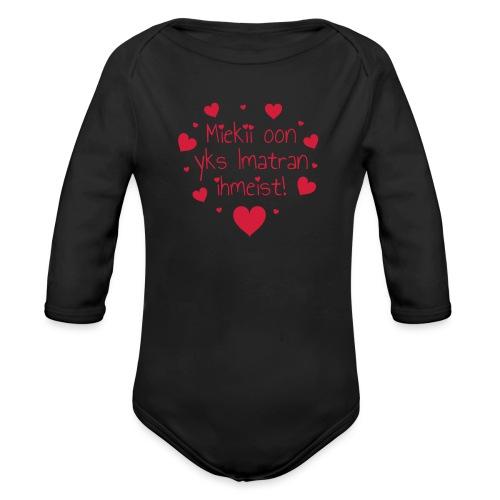 Miekii oon yks Imatran Ihmeist vauvan ph body - Vauvan pitkähihainen luomu-body