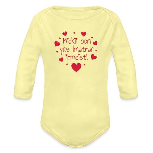 Miekii oon yks Imatran ihmeist! Naisten paita - Vauvan pitkähihainen luomu-body