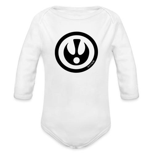 FITTICS SHIELD White - Organic Longsleeve Baby Bodysuit
