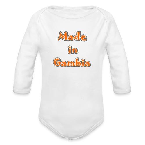 Made in Gambia - Organic Longsleeve Baby Bodysuit