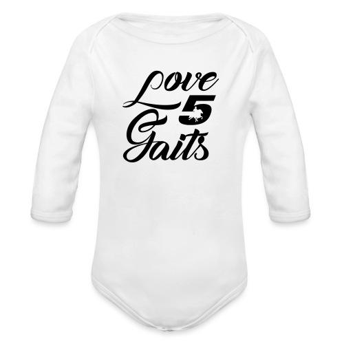 Love 5Gaits - Organic Longsleeve Baby Bodysuit