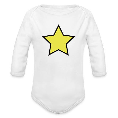 Star - Stjerne - Organic Longsleeve Baby Bodysuit