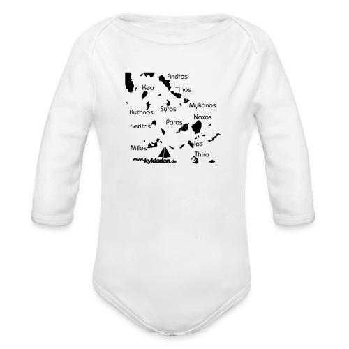 Kykladen Griechenland Crewshirt - Baby Bio-Langarm-Body