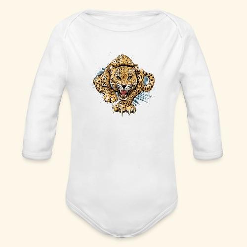 Leopardo KutuXa - Body orgánico de manga larga para bebé