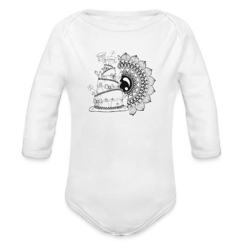 TortaMandala - Body ecologico per neonato a manica lunga