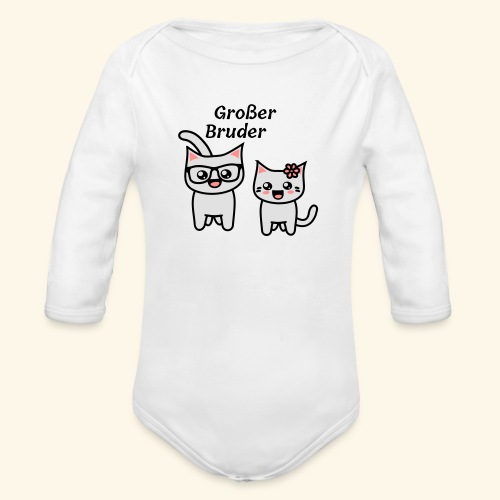 Großer Bruder - Baby Bio-Langarm-Body