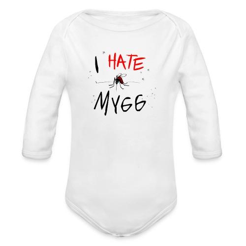 I hate mygg - Ekologisk långärmad babybody