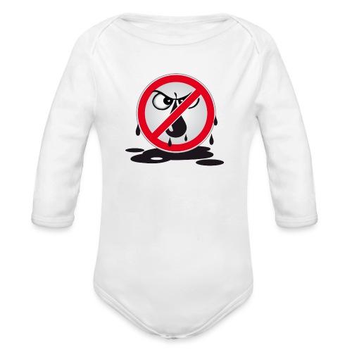 Erdöl Nein danke - Baby Bio-Langarm-Body