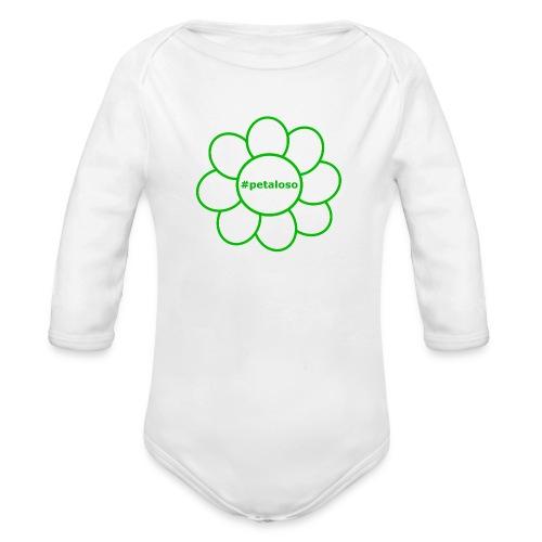#petaloso - Body ecologico per neonato a manica lunga