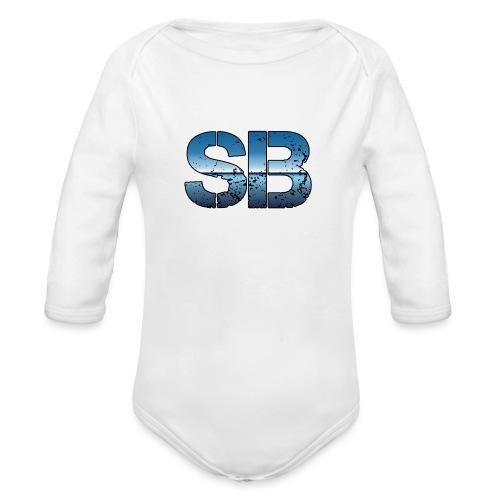 SB Logo - Langærmet babybody, økologisk bomuld