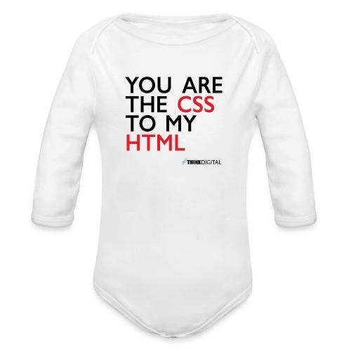 You are the CSS to my HTML - Body ecologico per neonato a manica lunga