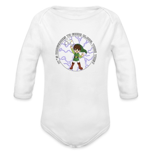 Dangerous To Game Alone - Organic Longsleeve Baby Bodysuit